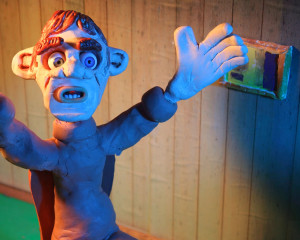 Claymation: Bend my knees.