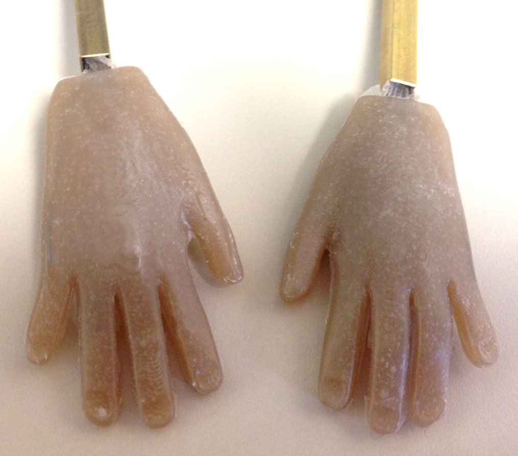 Final silicone hands (dorsal)