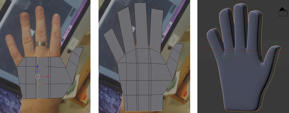 Hand mesh