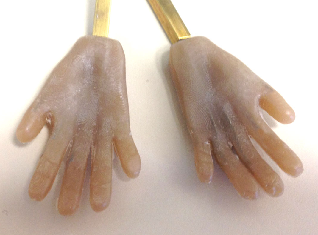 Final silicone hands (palms)